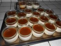 pannacota  et caramel beurre salé