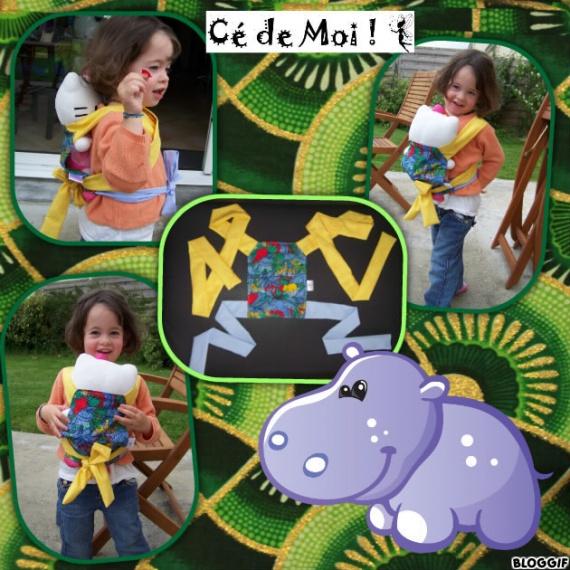 13-06-21 porte poupée meïtaï pour Julie - challenge créa home made juin thème couleurs
