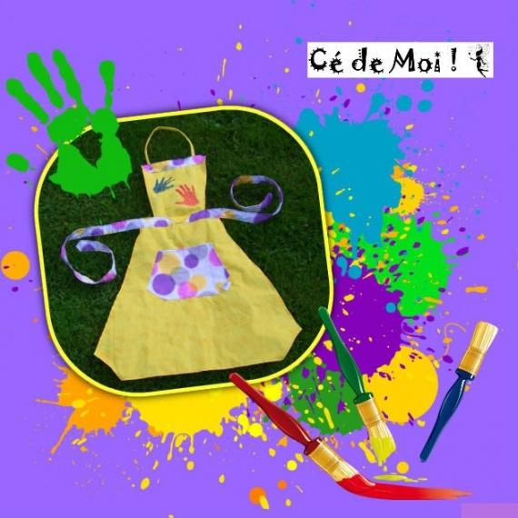 13-06-25 tablier pour la nounou de Julie - challenge créa home made juin theme couleurs