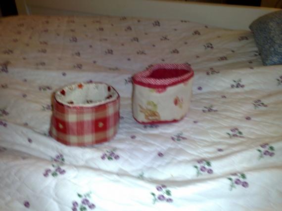 petits pots en tissu