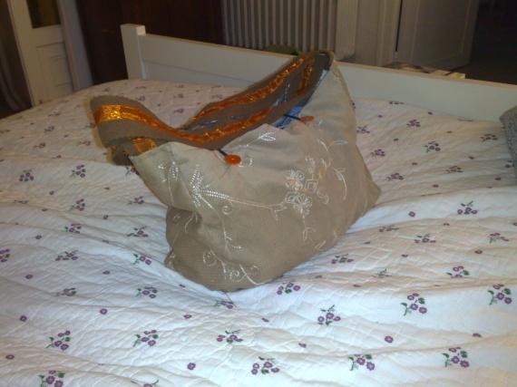 sac en velours doublé