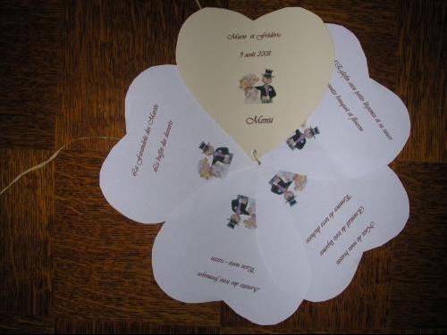 Surréaliste deco menu (coeur) - Salles et décorations - Mariage - FORUM Vie ZR-92