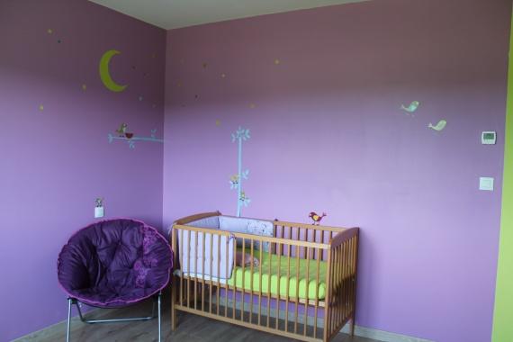 Chambre Bb Fille Violet Et Gris. Tableau Pour Chambre Bebe Fille ...