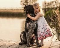 Cute-girl-dog-glare_1280x1024