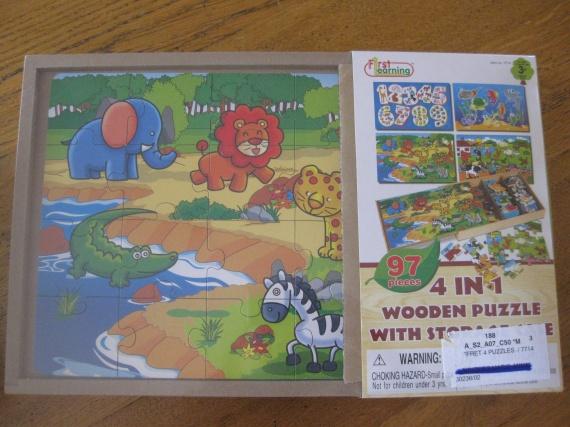Puzzle 4 en 1 : 10 €