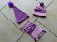 Ensemble polochon : 5€ bonnet ponpon : 1.50 €