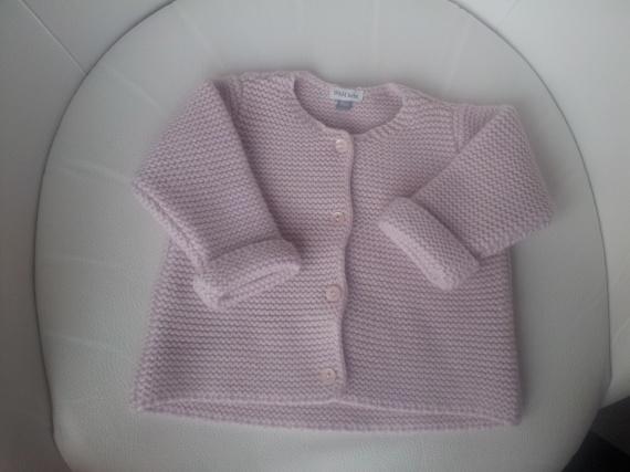 Cardigan chaud DPAM entre beige et rose poudre 6 mois 8 EUROS