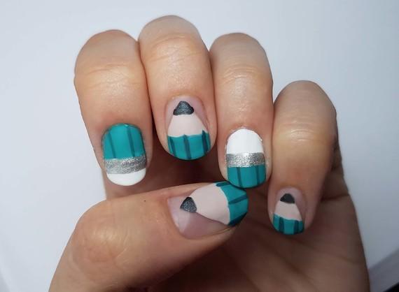 Nail art rentrée des classes