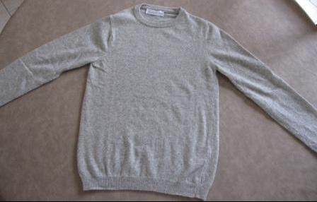 Un pull gris chiné 3€: