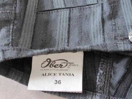 Pantalon rayé Ober détail