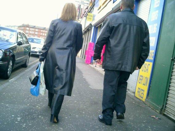 manteau et pantalon en cuir 2
