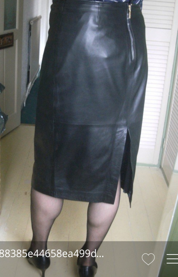 Longue jupe en cuir