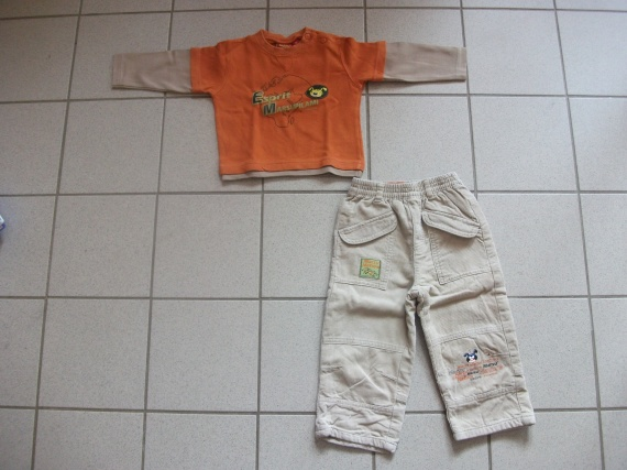 Ensemble marsupilami orange/beige 5 euros