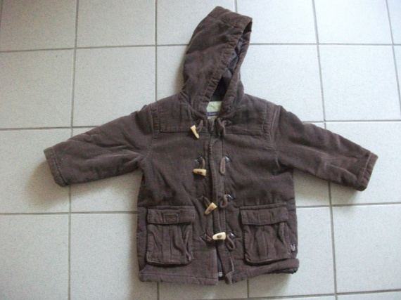 Manteau velours marron 2 ans 3 euros