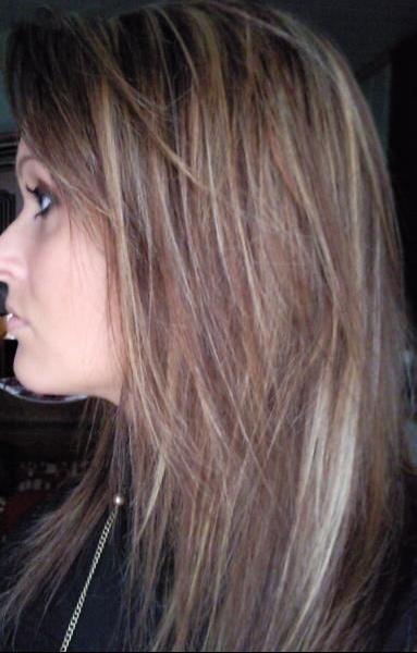 Meche blonde fine sur brune