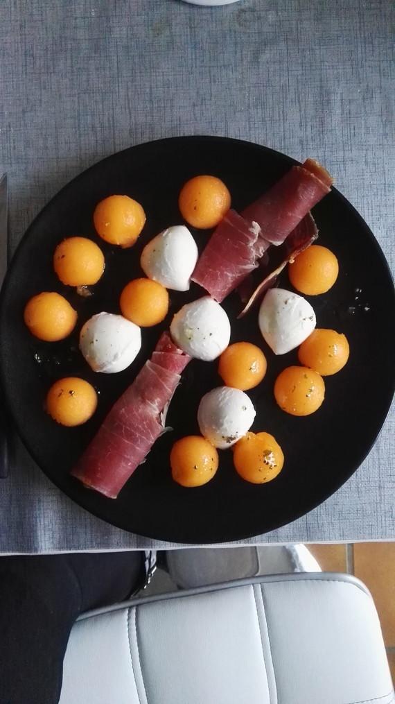 mozza melon jambon