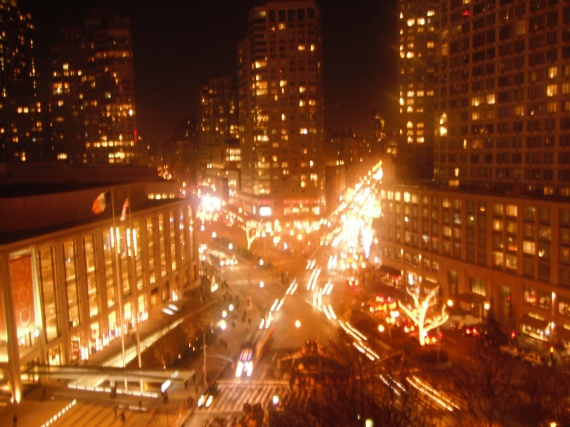 Broadway by night
