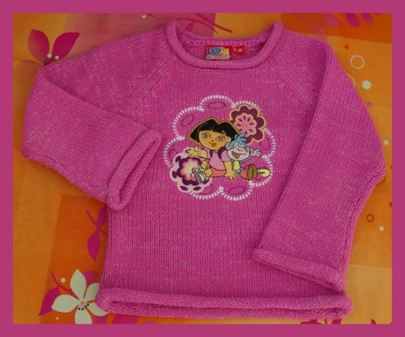 Pull Rose Dora l'Exploratrice Taille 4 ans TBE