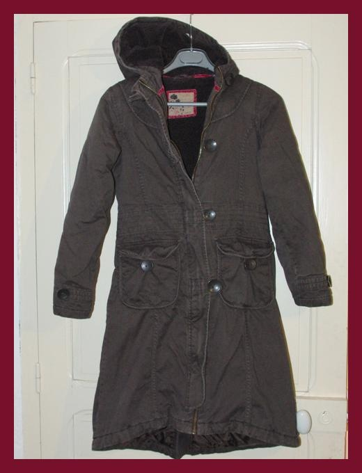 Manteau Long Marron  Okaïdi  Taille 14 ans TBE