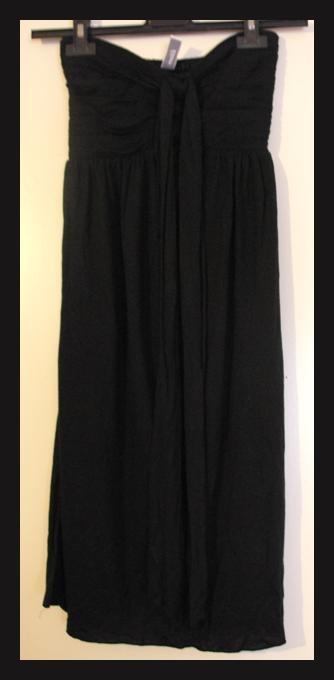 robe noire sans bretelles etam taille s tbe vendu. Black Bedroom Furniture Sets. Home Design Ideas
