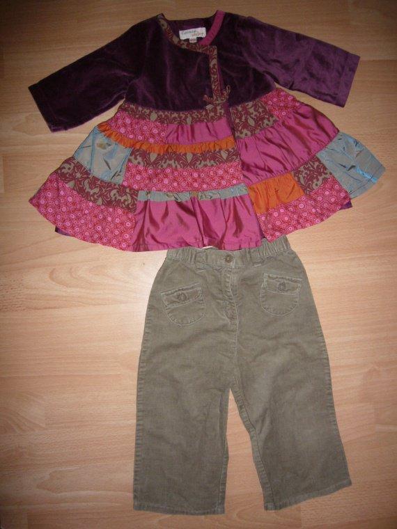 reste robe catimini (6 mois) portée en tunique 15 euros
