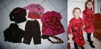 catimini 3A pantalon neuf, teeshirt marron et robe tbe reste est en BE gilet bien porté  60€