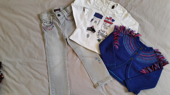 Ensemble Catimini jean, gilet et tee-shirt Princesses du Monde