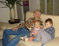 Avec leur papy