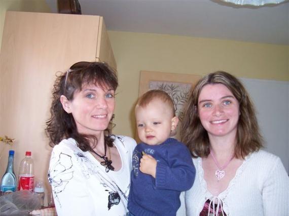 Avec maman et Tatie Lolo