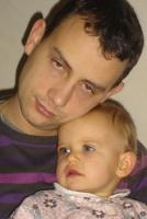 Papa et Clara dec 08
