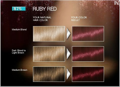 brillance ruby red permanent - Nuancier Schwarzkopf Coloration