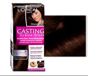 Couleur de cheveu chocolat noir
