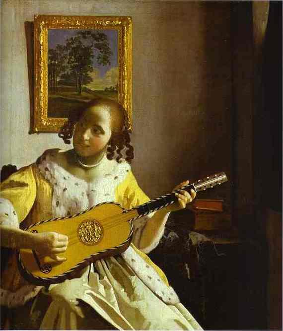 Jan Vermeer - le joueur de guitar