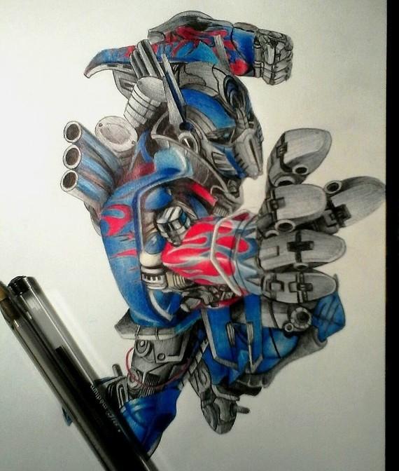 Optimus Prime (Tranformers) entièrement au bics