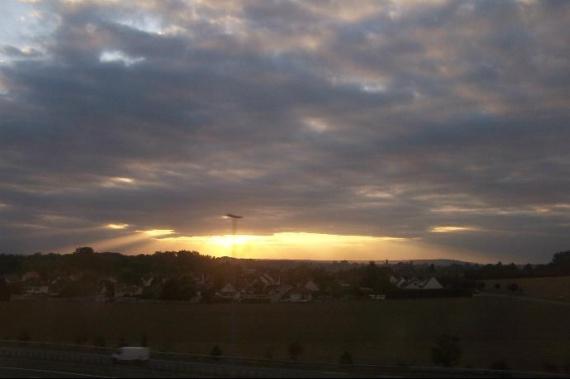 soleil se couche