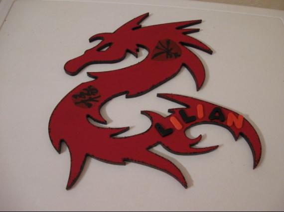 plaque dragon pour lilian