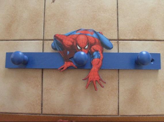 porte manteau spiderman