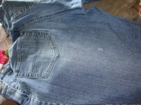 arrière du jeans, petit trou