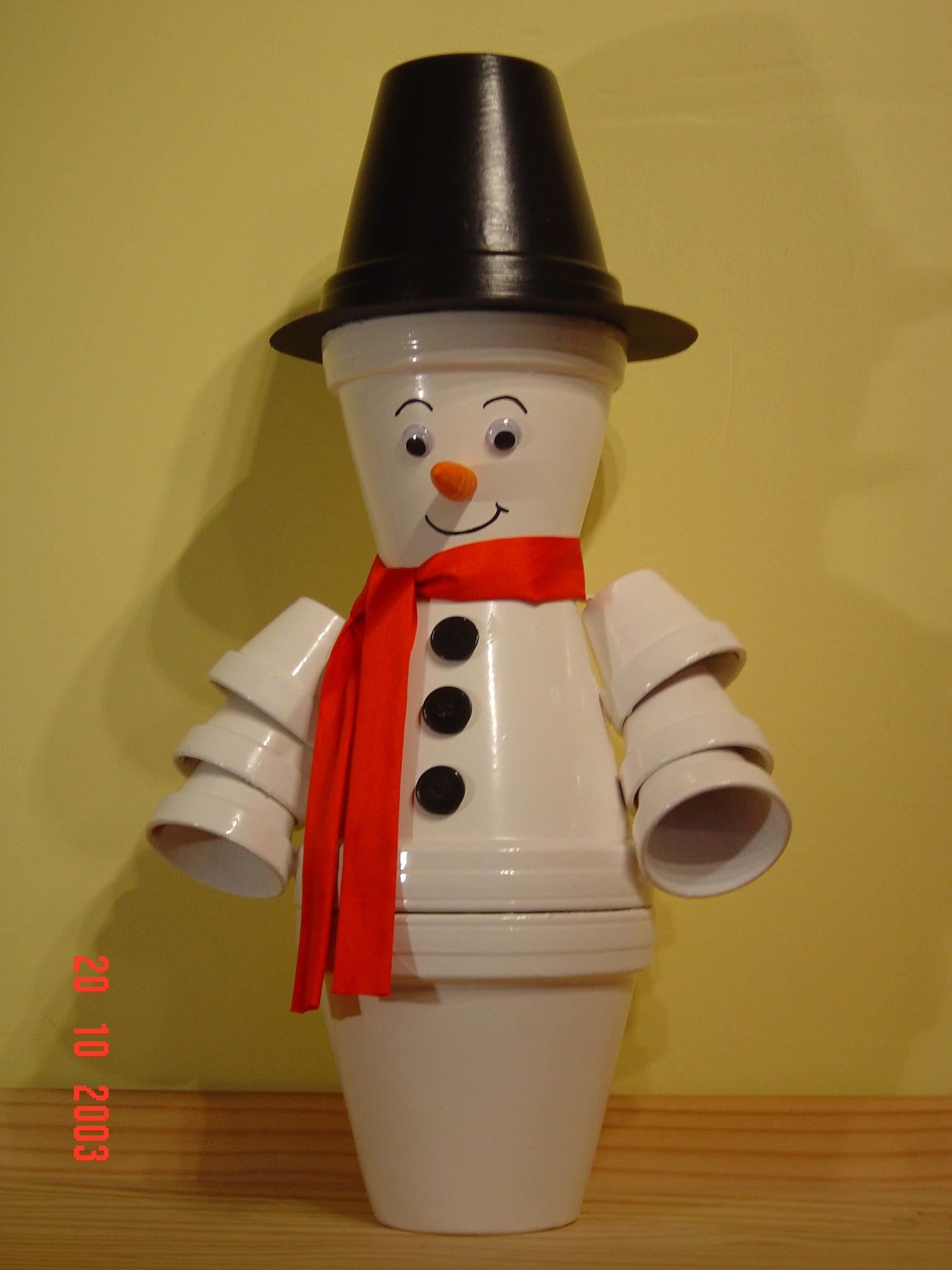 Bonhomme de neige divers schnoucky photos club - Bonhomme en pot de terre ...