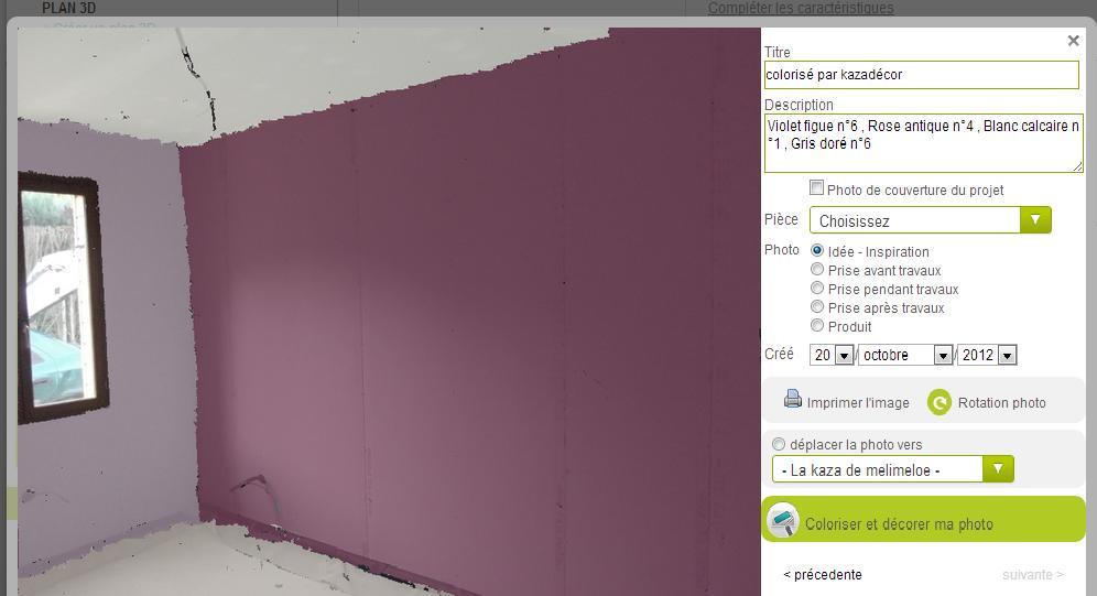 Essai couleurs rose antique n4 et violet figue 6 nous 3 melimelo photo - Couleur peinture gris mauve ...