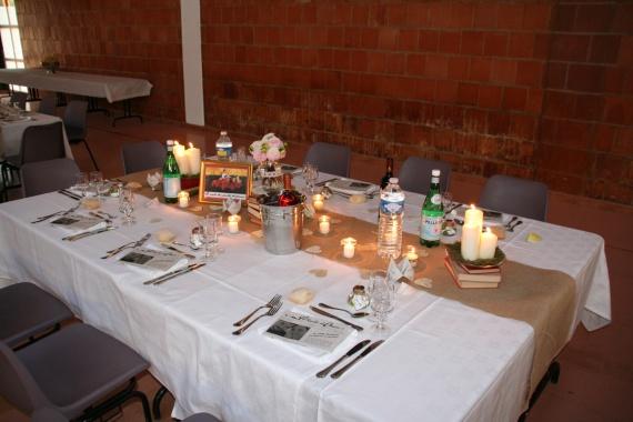 decoration table rectangle mariage. Black Bedroom Furniture Sets. Home Design Ideas