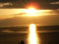 Coucher de soleil fin de l'été