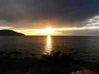 Coucher de soleil sur la méditerranée