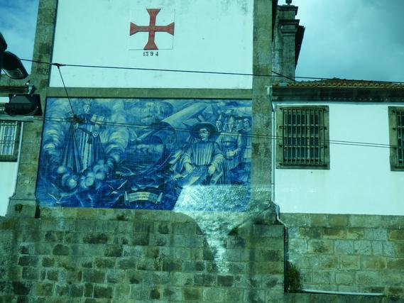 Azulejos - détail sur une façade d'église