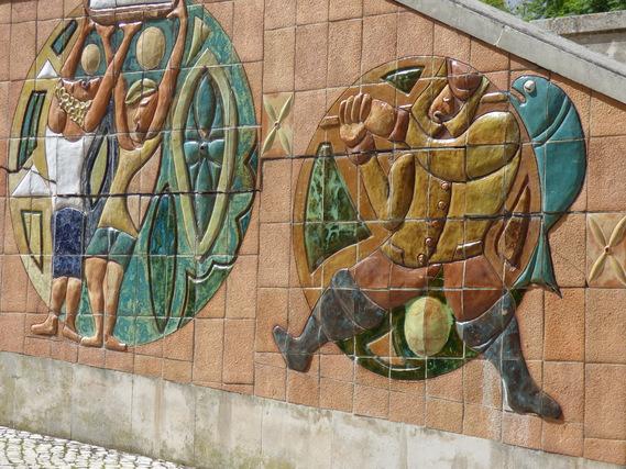 Fresque en céramique