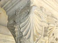 Cloître de Vaison la Romaine visage sur chapiteau