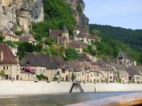 Vue sur le village de la Roque Gageac