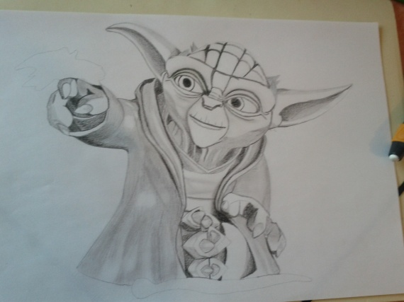 Yoda dessins misslouve92 photos club doctissimo - Yoda coloriage ...
