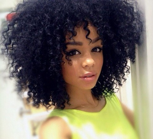 afro chic coiffures frizzy curly photos club doctissimo. Black Bedroom Furniture Sets. Home Design Ideas