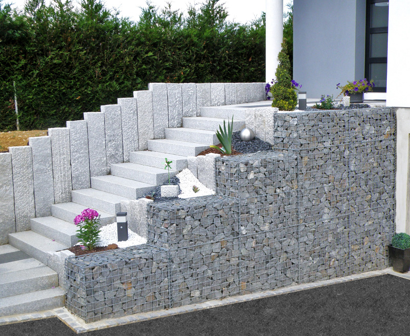 Gabion 12 gabion vegetal etre soi photos club for Decoration jardin gabion